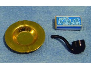 画像1: 灰皿、パイプ、マッチセット