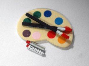 画像2: アーティスト・パレット 筆&絵具付き