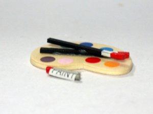 画像3: アーティスト・パレット 筆&絵具付き