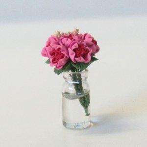 """画像4: ガラス花瓶入り""""バラ"""""""