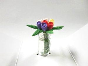 """画像4: ガラス花瓶入り""""チューリップ"""""""