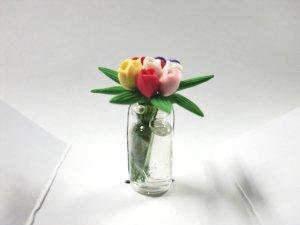 """画像3: ガラス花瓶入り""""チューリップ"""""""