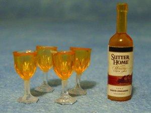 画像1: ボトルワイン&グラス4ヶセット
