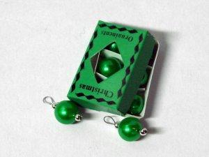 画像1: ボックス入りクリスマスオーナメント グリーン
