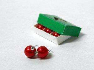 画像2: ボックス入りクリスマスオーナメント レッド