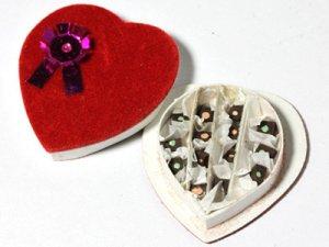 画像1: チョコレート ハート型ギフトボックス入り