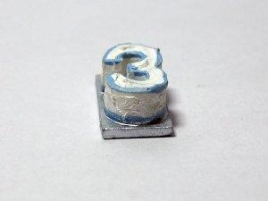 """画像2: バースデー ケーキ """"3"""" ブルー"""