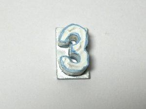 """画像1: バースデー ケーキ """"3"""" ブルー"""