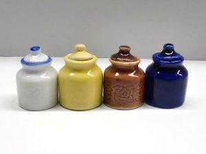 画像3: 陶器 保存容器 黄色