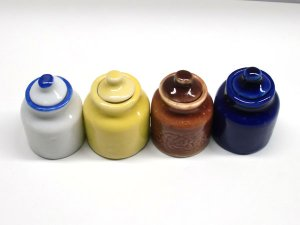 画像4: 陶器 保存容器 黄色