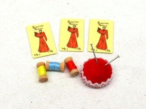 画像1: ピン・クッション(針刺し)セット 裁縫用具
