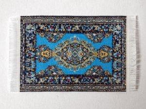 画像1: ラグ 機械織り  4.7cm x 6.6cm(フリンジ込み8cm)