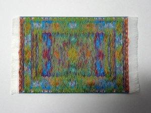 画像3: ラグ 機械織り  10 x 14cm (フリンジ込み16.3cm)