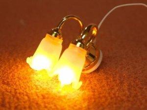 画像4: 照明 壁用  チューリップ2灯