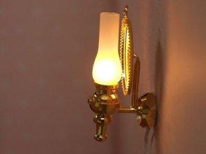画像5: 照明 壁用 オイルランプ ミラー付スコンス