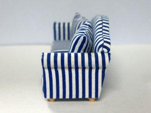 画像4: ソファ ブルー・ストライプ