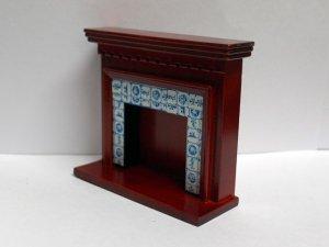 画像2: 暖炉 マントルピース タイル貼り