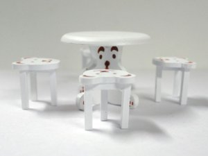 画像3: ベア テーブル&チェア4脚セット ホワイト