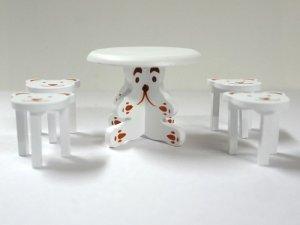 画像4: ベア テーブル&チェア4脚セット ホワイト