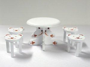 画像5: ベア テーブル&チェア4脚セット ホワイト