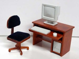 画像1: コンピュータ・デスク&チェア PC付