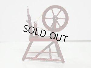画像1: 糸紡ぎ機 スピニング・ウィール マホガニー