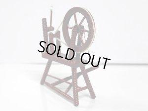 画像2: 糸紡ぎ機 スピニング・ウィール マホガニー