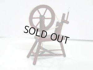 画像4: 糸紡ぎ機 スピニング・ウィール マホガニー