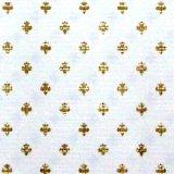壁紙 55.88cm x 76.33cm  White/Gold FleurDeLys