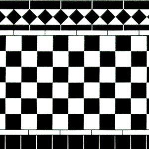 画像1: 壁用タイル 278x86mm x 2  Black & White 光沢厚紙