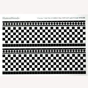 画像3: 壁用タイル 278x86mm x 2  Black & White 光沢厚紙