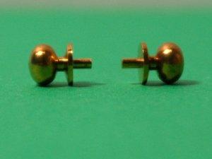 画像1: ドアノブ 真鍮 ペア(2個)