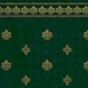 """画像1: 壁紙 A3 (297 × 420 ミリ)室内壁用 """"Garden Crest"""" Green & Ivory"""