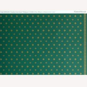 """画像3: 壁紙 A3 (297 × 420 ミリ)室内壁用 """"Garden Crest"""" Green & Ivory"""