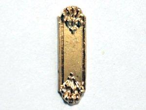 画像1: ドア フィンガー プレート 真鍮