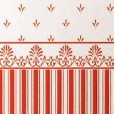 """Grosvenor"" Red/Cream"