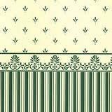 """Grosvenor"" Green/Cream"