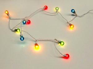 1/12サイズのドールハウス用ミニチュア クリスマス照明