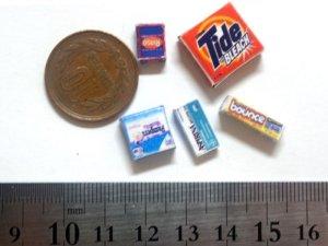 ミニチュア 1/12サイズのパッケージ5個セット