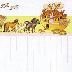 画像1: 壁紙 A3 (297 × 420 ミリ)NOAH'S ARK Pink