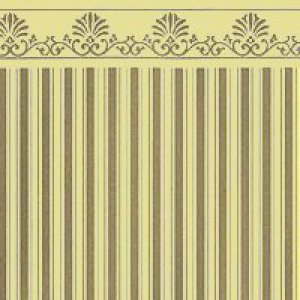 画像1: Majestic Stripe Wallpaper Gold / Beige