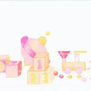 画像2: 壁紙 ボーダー用 長さ:約42cm  Toy Box Border Pink