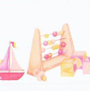 画像3: 壁紙 ボーダー用 長さ:約42cm  Toy Box Border Pink