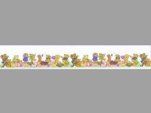 画像1: 壁紙 ボーダー用 長さ:約42cm  Teddy Picnic Border